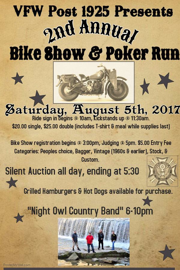 2nd Annual VFW Bike Show & Poker Run