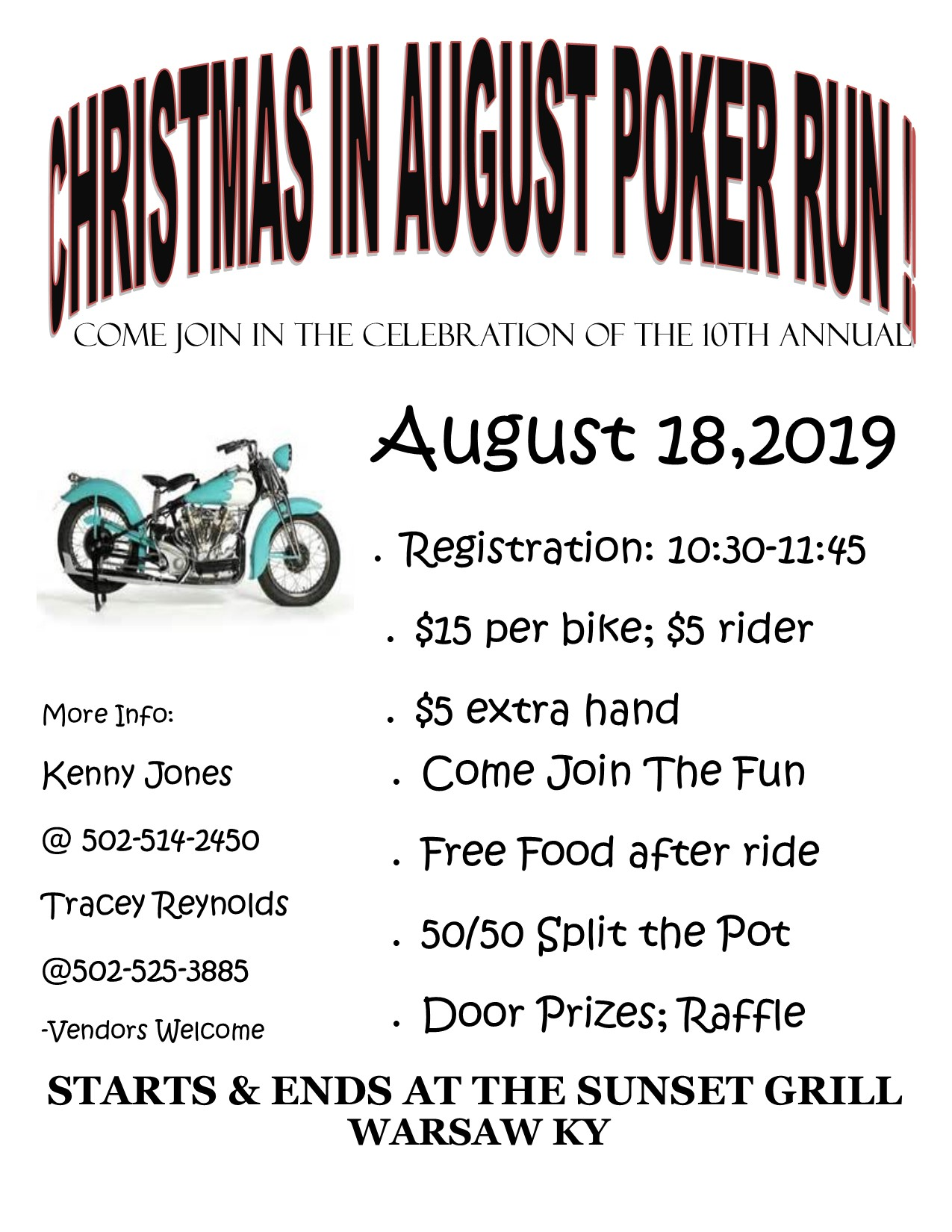 Christmas In August Poster.Christmas In August Poker Run